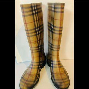 Burberry Nova Check Rainboots Size 41